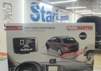 Установка на автомобиль Skoda Rapid парктроников