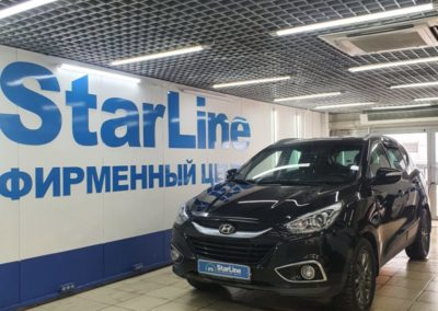 Hyundai IX35 — установили охранный комплекс StarLine A93