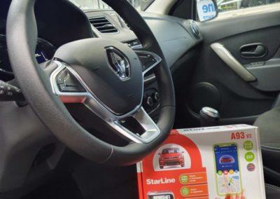 Renault Sandero — установили охранный комплекс StarLine A93 V2