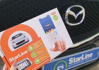На Mazda CX-5 установили сигнализацию StarLine A93 с умным автозапуском