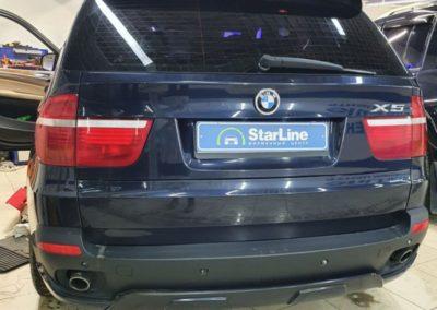 На автомобиль BMW X5 установили автосигнализацию StarLine A93
