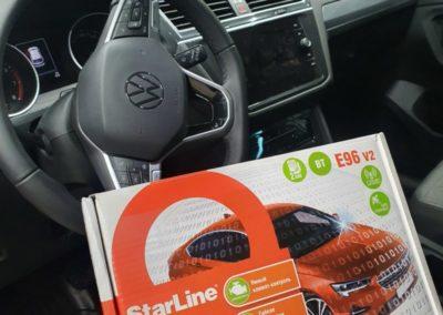 На VW Tiguan установили StarLine E96 с GSM и GPS модулями