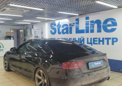 Установили современный охранный комплекс StarLine S96 с модулем GSM на Audi A5
