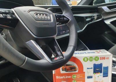 На Audi A6 установили охранный комплекс StarLine S96 GSM