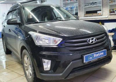 На автомобиль Hyundai Creta установили автосигнализацию StarLine A93