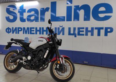 На мотоцикл Yamaha установили автосигнализацию StarLine V67