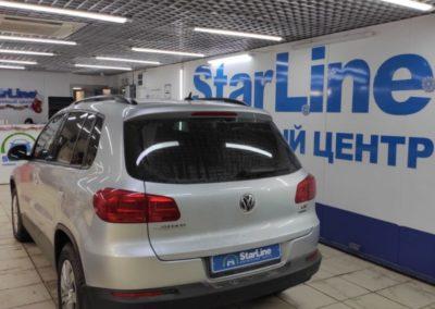 На автомобиль VW Tiguan установили автосигнализацию StarLine A93