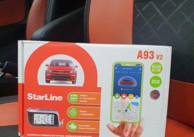 На автомобиль Лада Веста установили автосигнализацию StarLine A93 Eco