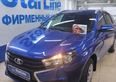 На автомобиль Лада Веста установили охранный комплекс StarLine E96 Eco