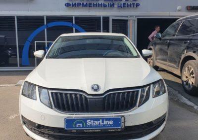 На автомобиль Skoda Octavia установили автосигнализацию StarLine A93