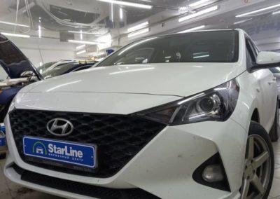 Hyundai Solaris — установили светодиодные bi led модули фирмы Aozoom
