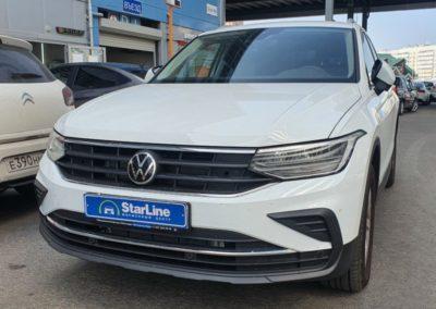 На автомобиль VW Tiguan установили охранный комплекс StarLine S96