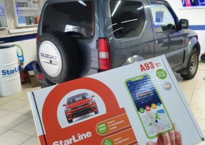 На автомобиль Suzuki Jimmy установили автосигнализацию StarLine A93