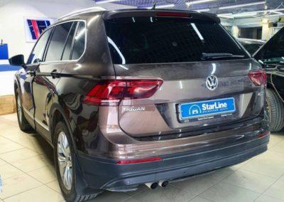 На Volkswagen Tiguan 2 установили охранный комплекс StarLine S96 с возможностью управления через телефон