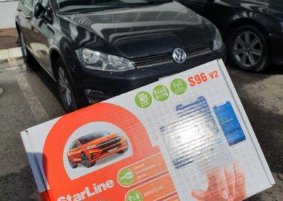 На автомобиль VW Golf установили охранный комплекс StarLine S96