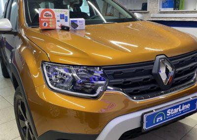 На автомобиль Renault Duster установили охранный комплекс StarLine S96