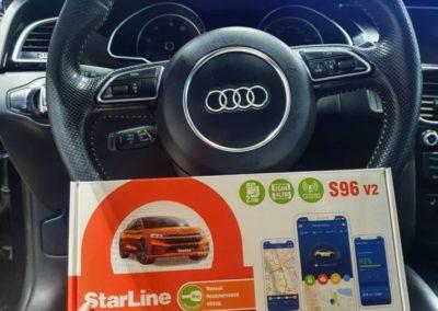 Установили современный охранный комплекс StarLine S96 с модулем GSM на автомобиль Audi A5